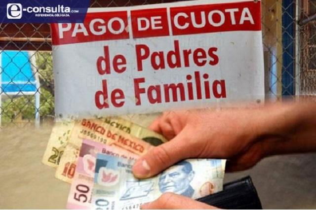 Comité de padres de familia cobra cuotas en Zoquitlán