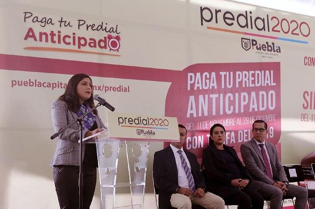 Ofrecen premios de sorteo por pago anticipado de predial en Puebla
