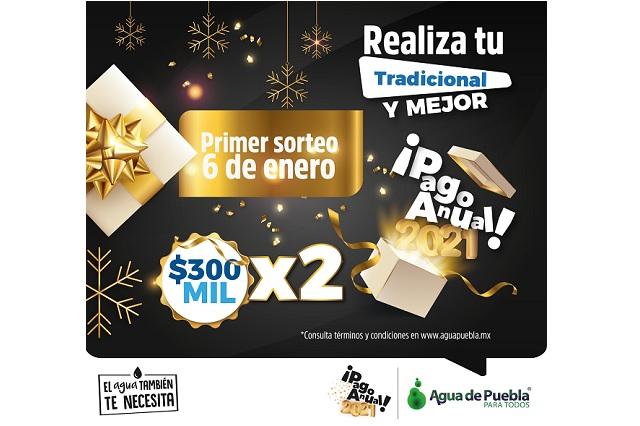 Diciembre, último mes para pago anticipado 2020 en Agua de Puebla