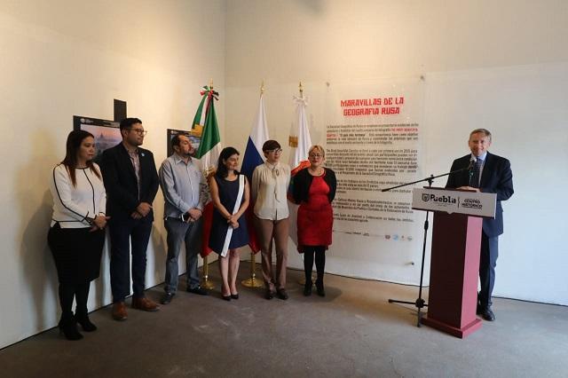 Inauguran exposición Maravillas de la Geografía Rusa en Puebla