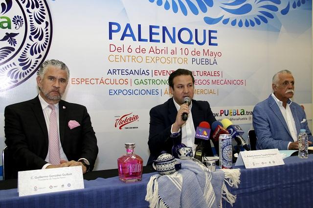 Espera Feria de Puebla afluencia superior a 1 millón 200 mil personas