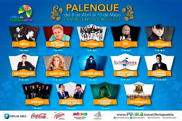 Presentan cartel oficial del Palenque de la Feria de Puebla 2016
