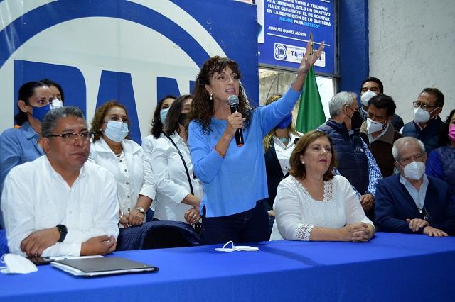 No venderemos candidaturas, señala Augusta Díaz de Rivera