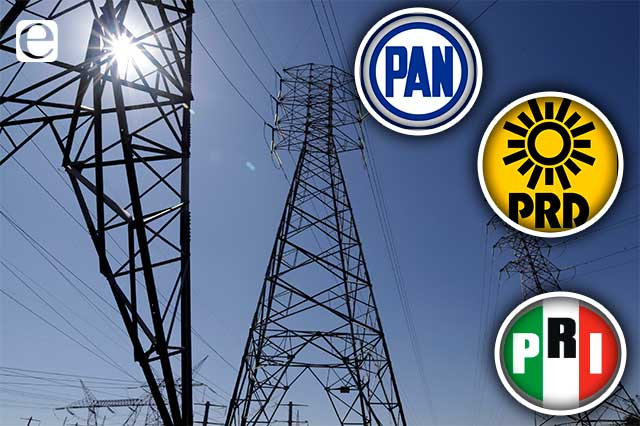 PRI, PAN y PRD en el Senado dicen no a la reforma eléctrica