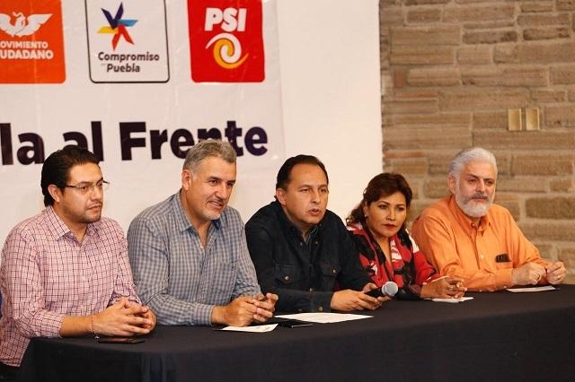 Reprueban PAN y aliados proyecto para anular elección en Puebla