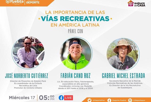 Presentan Vía Recreativa de Puebla en panel internacional