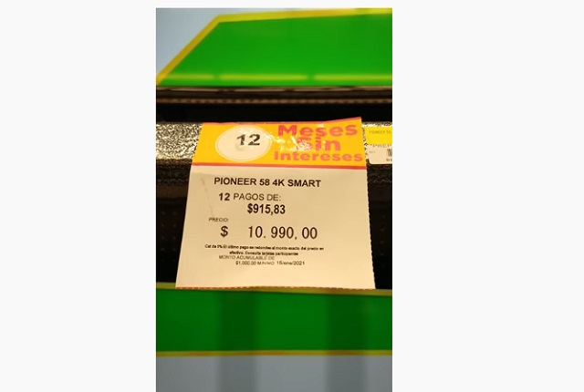 Por error en Bodega Aurrerra, cliente pide le vendan pantalla en 10.99 pesos