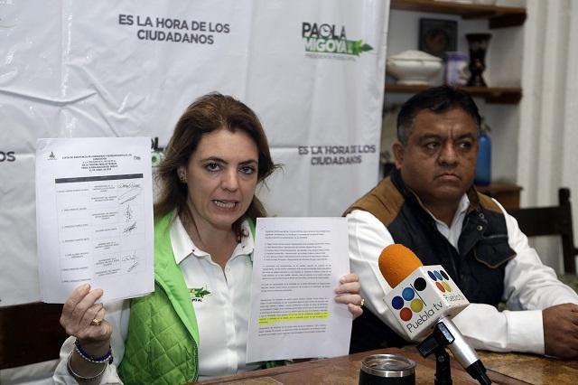 Denuncia Paola Migoya alteración de documentos para frenar debate