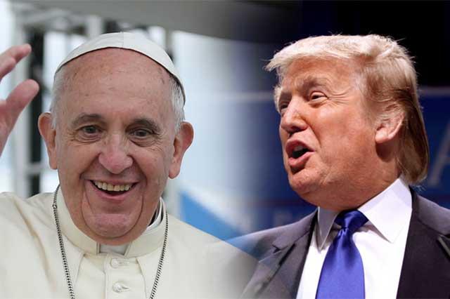 Donal Trump, dispuesto a hacer las paces con el Papa