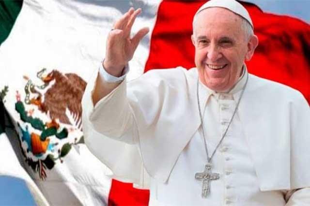 Se encomienda el Papa a la Virgen de Guadalupe e inicia su viaje a México