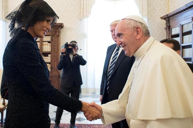 El chiste del Papa Francisco que sólo Melania Trump entendió