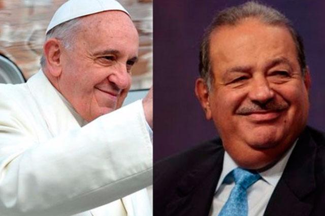 Carlos Slim, entre los patrocinadores del viaje del Papa a México