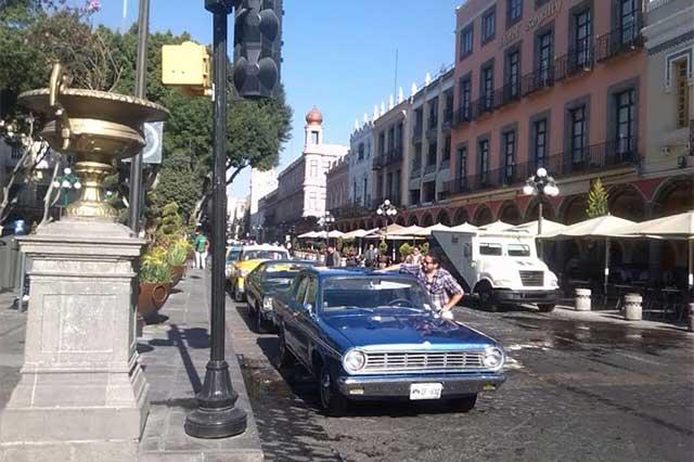 Cierran zócalo de Puebla para serie de Paquita la del Barrio