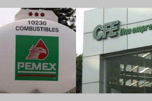 Avalan reguladores de energía predominio de Pemex y CFE