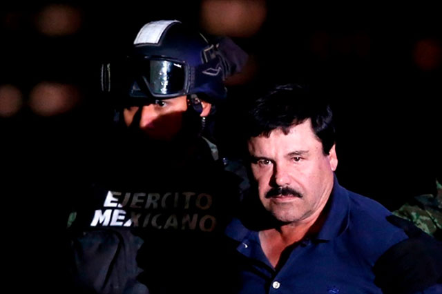 Corte de San Diego quiere a El Chapo para juzgarlo por tráfico de cocaína
