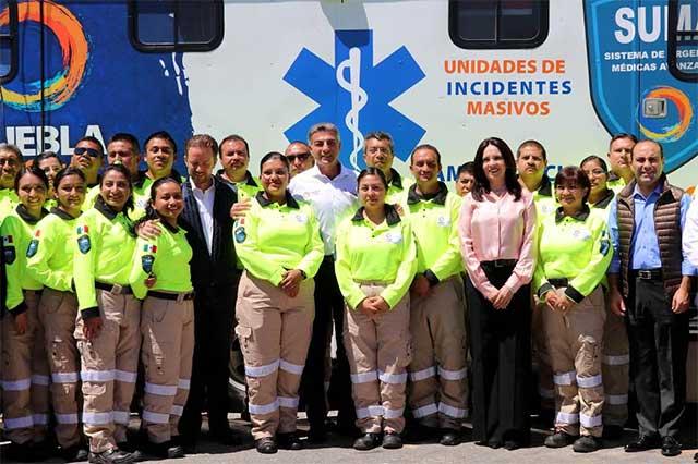 Reconoce Gali a personal del SUMA en el Día del Paramédico