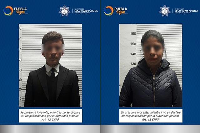 Policía Estatal aseguró a pareja que pedía datos de tarjetas bancarias