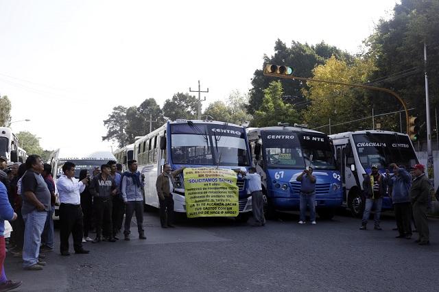 Ponen de cabeza a la capital y SIMT los ignora: camioneros