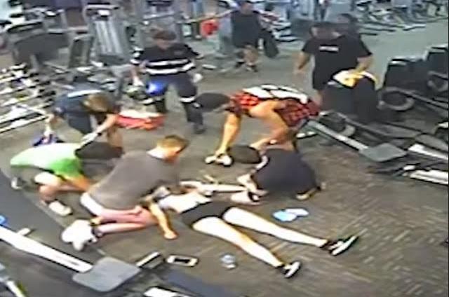 Chica tiene paro cardiaco en el gimnasio y así salvaron su vida
