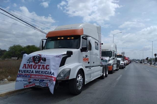 Exigen transportistas seguridad y alto a las extorsiones en carreteras