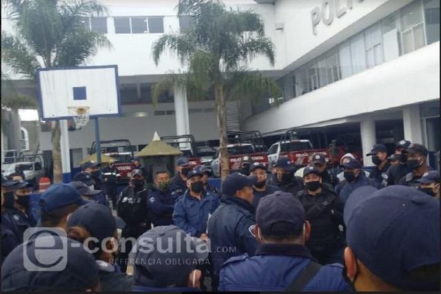 Policías anuncian paro si Segob no cumple aumento salarial