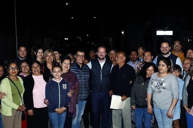 Entrega Banck en San Baltazar Campeche, vialidad y parque rehabilitado