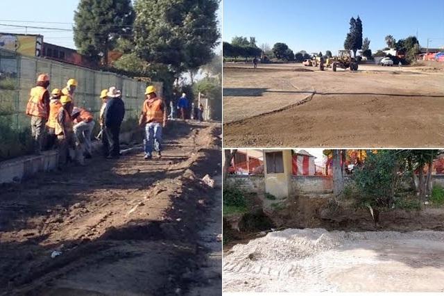 Pese a promesa de Espinosa obras en Parque Soria prosiguen: Xicale