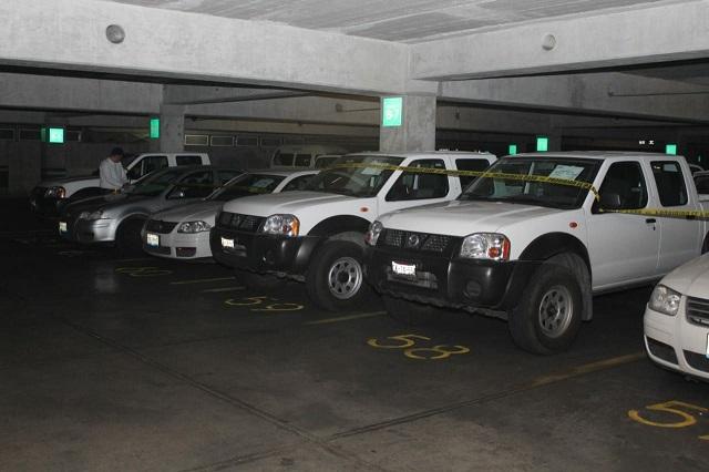 Gobierno estatal resguarda parque vehicular durante la elección