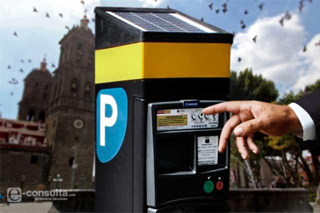 Evalúan una vez más instalar parquímetros en Puebla capital