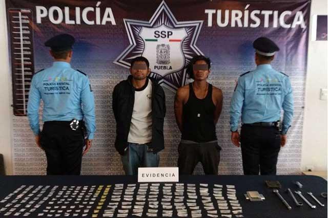 Policía Turística aseguró a dos narcomenudistas en El Parral
