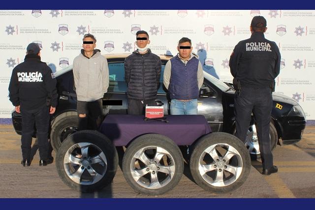 Desarticulan banda de ladrones de autopartes en Puebla