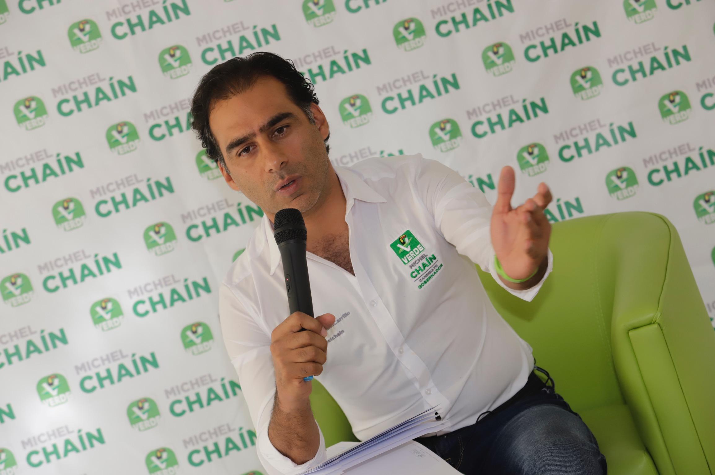 Chaín advierte que será duro en el debate por la gubernatura