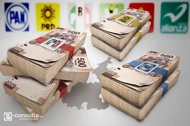 Da Puebla 1,500% más dinero a partidos que a universidades