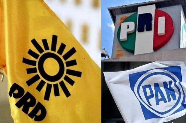 PAN, PRI y PRD forman alianza parcial en Puebla para 2021