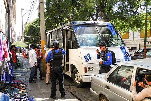 Fallece pasajero de microbús Ruta 37 en el Centro Histórico