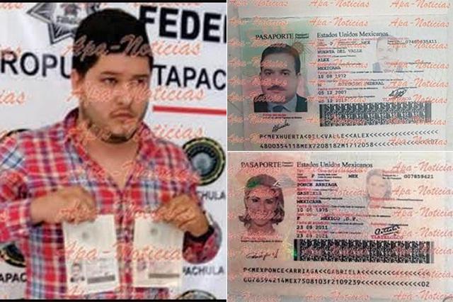 Confirma la SRE que son falsos los pasaportes con fotos de Duarte y su esposa