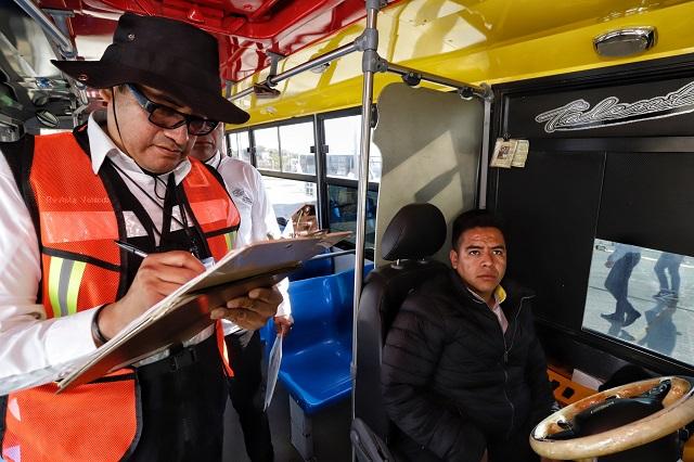 Revisan a medias modernización del transporte en Puebla