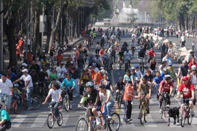Por contaminación atmosférica, suspenden primer paseo ciclista navideño