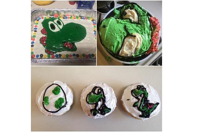 Mira los horribles pasteles que una mujer le hace a su esposo