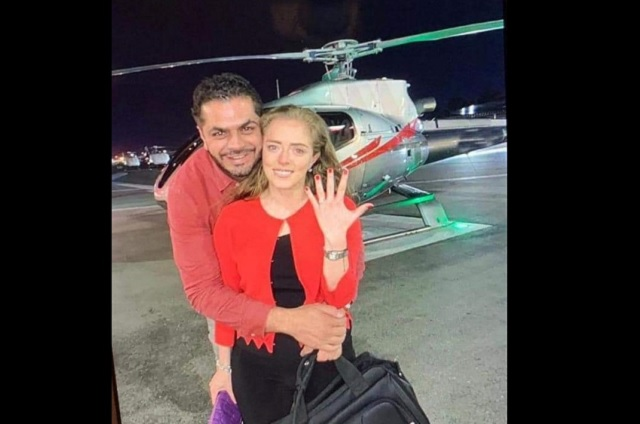 Patjane olvida austeridad, renta helicóptero para pedir matrimonio