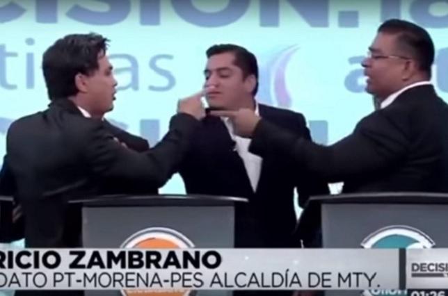Durante debate, el Pato Zambrano amenaza con partirle la madre a su adversario