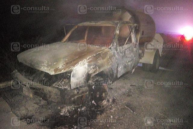 Se incendia pipa con gas LP en la carretera a Tecali