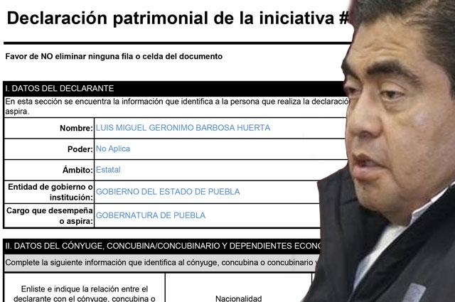 ¿Pobre? hasta 2018 Barbosa reportaba bienes por 15 mdp