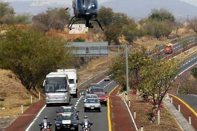 Inicia SSP patrullajes aéreos en Tehuacán para disuadir delitos