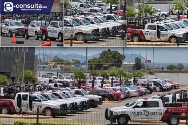 Renta Puebla patrullas y las tiene estacionadas a falta de personal