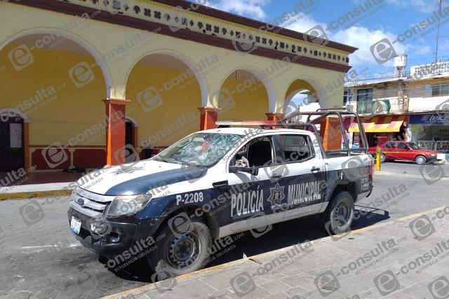 Apoyo para policía quemada con ácido en Altepexi, ofrece Barbosa