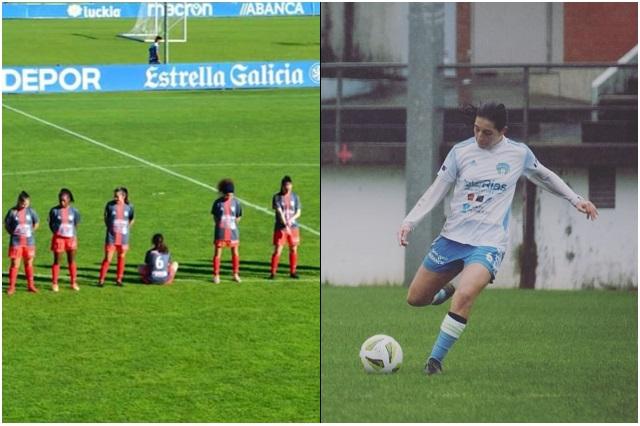 Paula Dapena, la futbolista que dio la espalda durante homenaje a Maradona