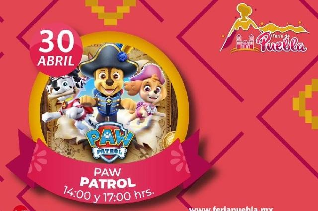Paw Patrol llega a la Feria de Puebla el Día del Niño