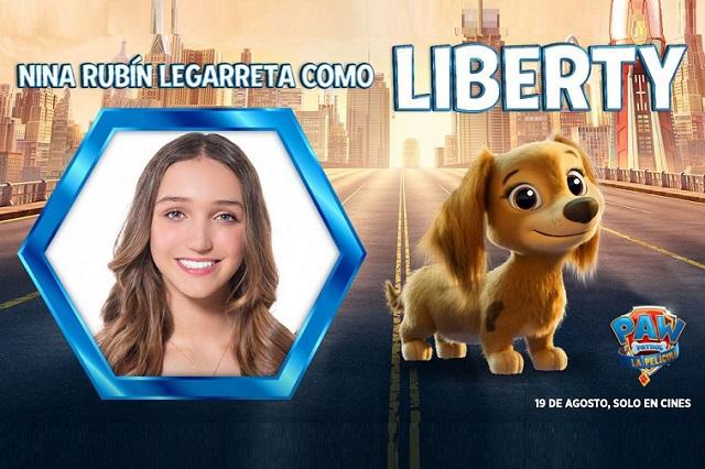 Nina Rubín es la voz en español de Liberty en Paw Patrol: la película