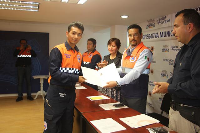 Certifican a unidades especializadas de Protección Civil en Puebla